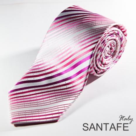 【SANTAFE 】韓國時尚白紫混搭斜紋領帶 KT-131106