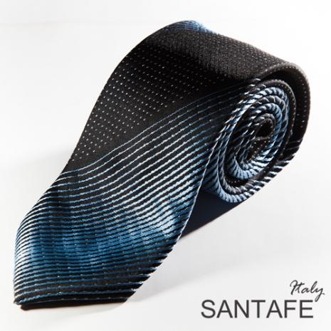 【SANTAFE】 韓國時尚黑藍漸層斜紋領帶 KT-131109