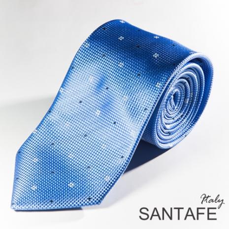【SANTAFE】 韓國進口淡藍輕盈雪花領帶 KT-131114