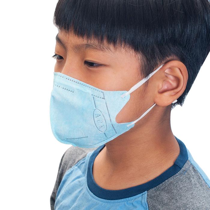 AOK 飛速 一般兒童醫用立體口罩 50入/盒 淡藍色