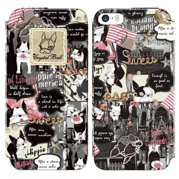 GARMMA Crystal Ball iPhone 5/5s/SE 側掀式皮套-漫畫HIPPIE