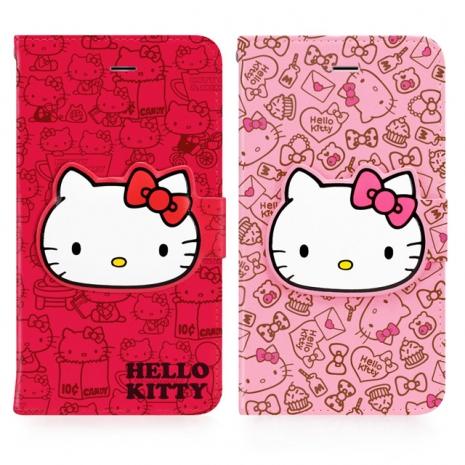 GOMO Hello Kitty iPhone 6/6S Plus 5.5吋可立式摺疊皮套