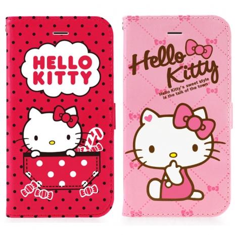 GOMO Hello Kitty iPhone 6/6S 4.7吋可立式摺疊皮套-花俏系列