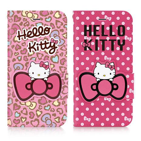 GOMO Hello Kitty iPhone 6/6S Plus 5.5吋可立式摺疊皮套-花蝴蝶系列