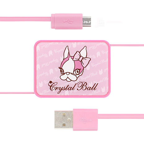 GARMMA Crystal Ball Micro USB伸縮式充電傳輸線
