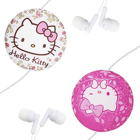 GARMMA Hello Kitty 伸縮耳機麥克風-優雅白/俏麗桃