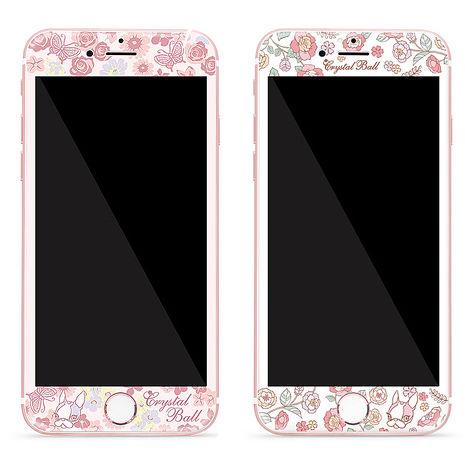 GARMMA Crystal Ball iPhone 6/6S Plus 5.5吋3D曲面珠光鋼化玻璃膜-夢幻花園/甜蜜花園