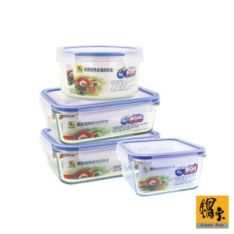 【鍋寶】豐富料理玻璃保鮮盒4件組 EO-BVC352400901Z2