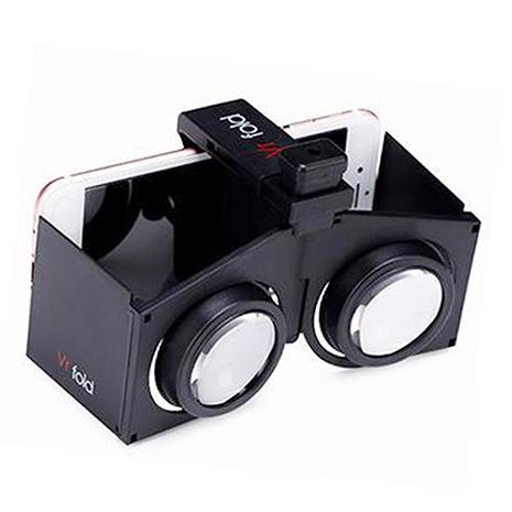 智慧型手機玩家必備【超輕薄折疊式3D立體眼鏡】VR- fold虛擬實境(黑色)
