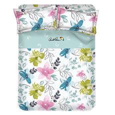 ~Arnold Palmer雨傘牌~果漾戀人~40紗精梳純棉床包被套雙人四件組