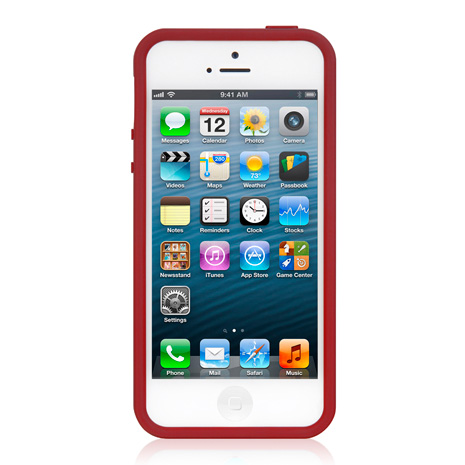 LUXA2 ACE 彩色 iPhone5/5S保護框-紅