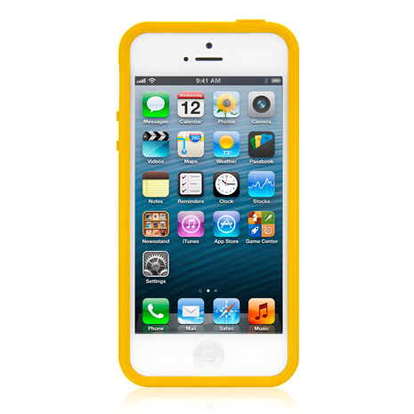 LUXA2 ACE 彩色 iPhone5/5S保護框-黃