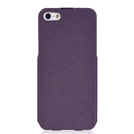 LUXA2 Posh iPhone5/5S下掀式真皮皮套-紫