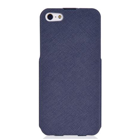 LUXA2 Posh iPhone5/5S下掀式真皮皮套-藍