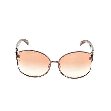 Giorgio Armani 裸空LOGO太陽眼鏡 - 晶透粉棕