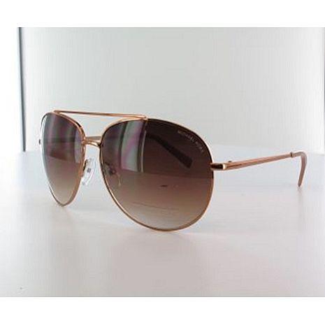Michael Kors 時尚太陽眼鏡-銅色框/棕色鏡面