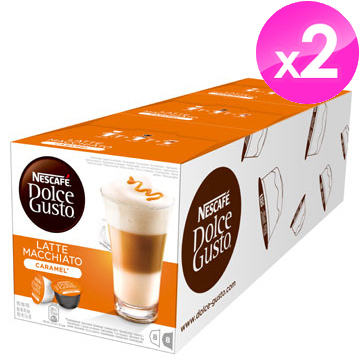 雀巢NESCAFE 焦糖瑪奇朵咖啡膠囊(Caramel Latte Macchiato)【3盒X2條組】