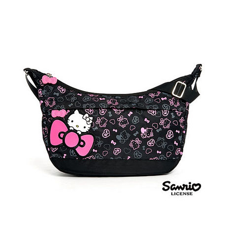【HELLO KITTY】繽紛彩糖 滿版 Kitty 側背包
