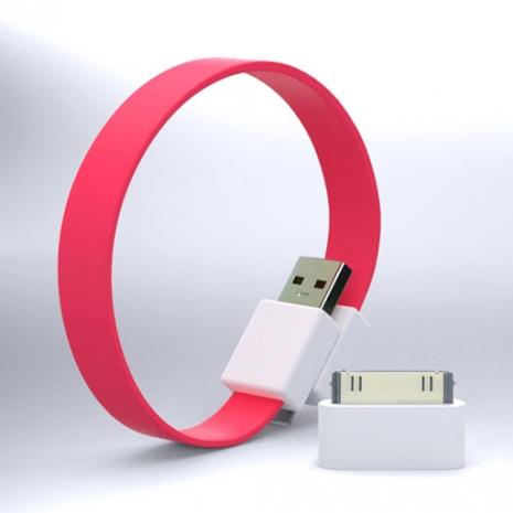 Mohzy USB 環狀傳輸線(附轉接頭) - 粉紅