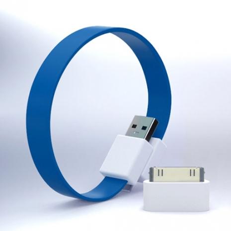 Mohzy USB 環狀傳輸線(附轉接頭) - 藍綠色