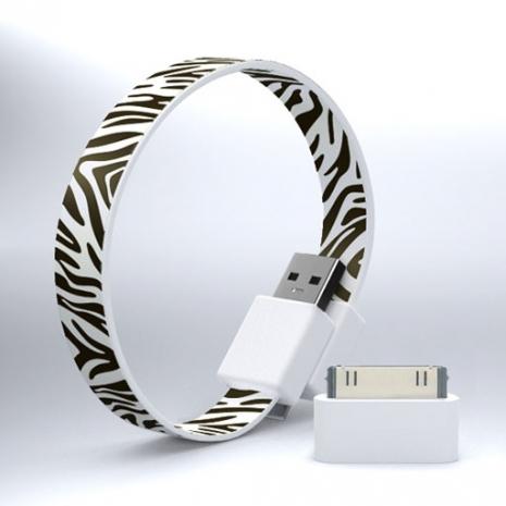 Mohzy USB 環狀傳輸線(附轉接頭) - 斑馬
