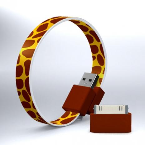 Mohzy USB 環狀傳輸線(附轉接頭) - 長頸鹿