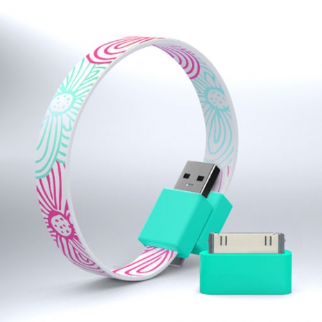 Mohzy USB 環狀傳輸線(附轉接頭) - 花朵