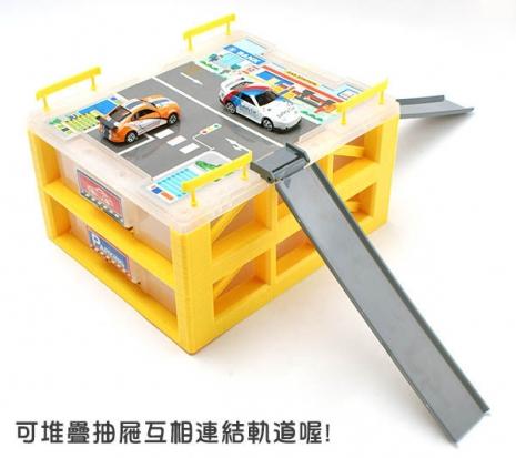 Amuzinc酷比樂 汽車軌道玩具 迷你立體停車場(附收納盒) 400522