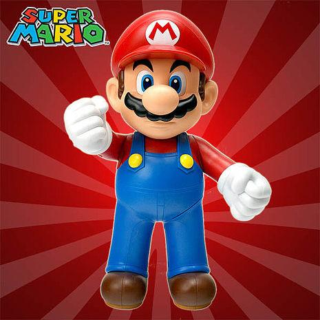 【TAITO】日版/任天堂 超級瑪莉歐 可動完成品 Mario 瑪利歐大型公仔 高約30公分