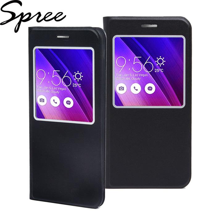 Spree ASUS Zenfone 2(5吋)視窗型輕薄皮套-黑