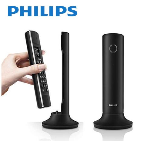 【PHILIPS飛利浦】Linea設計節能數位無線電話_尊爵黑 M3301B