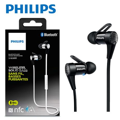 (16 光棍節)【PHILIPS飛利浦】 SHB5800 入耳式無線藍牙耳機麥克風(支援NFC配對)