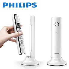 ^( 品^)~PHILIPS飛利浦~Linea 節能 無線電話_ 白 M3301W