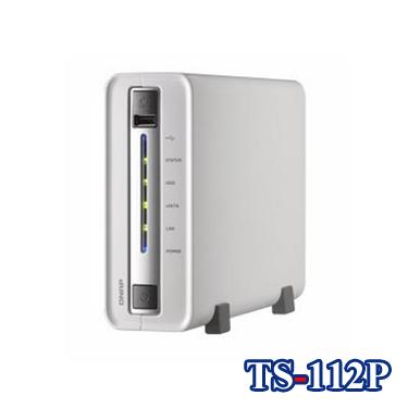 QNAP威聯通 TS-112P 1Bay網路儲存伺服器