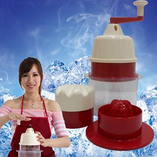 ↘夏末降《春佰億》剉冰達人 便利免電果菜機刨冰機榨汁機(用共底杯)透心涼組