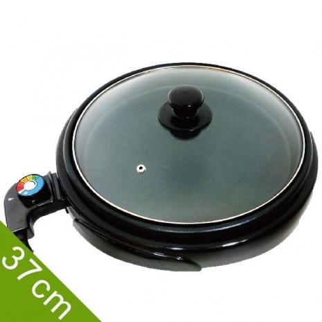 LAPOLO 藍普諾桌上型低脂圓烤盤 LA-9122附玻璃鍋蓋 直徑37cm
