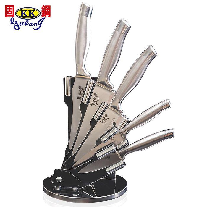 固鋼 一體成型醫療級不鏽鋼刀六件組(廚房刀具6件組)+贈料理剪刀