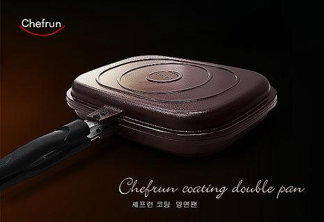 Chefrun 100%韓國原裝熱循環雙面煎烤鍋(1入贈雪尼爾巾2條)