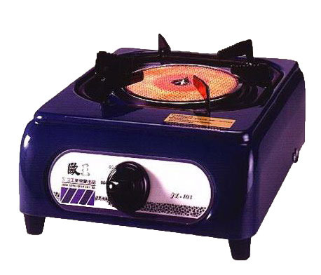歐王遠紅外線單口瓦斯爐 JL-103(墨綠色)-使用桶裝瓦斯 方便安全 瓦斯爐 遠紅外線安全爐 烤肉爐 熱度均勻不黑鍋