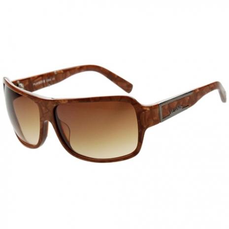 PLAYBOY-時尚太陽眼鏡(咖啡金)