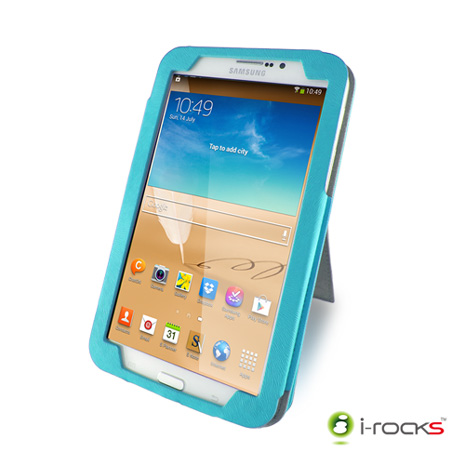 i-rocks IRC21 Samsung Galaxy Tab3/ Tab4  7.0皮革保護套(藍)