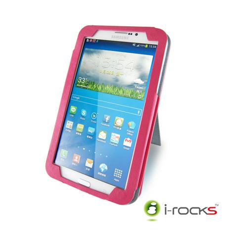 i-rocks IRC21 Samsung Galaxy Tab3/ Tab4  7.0皮革保護套(粉)