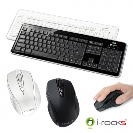 i-rocks  RF6170S無線2.4GHz電腦鍵盤滑鼠組(復刻板)