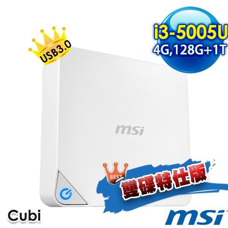 msi CUBI-073XTW W3500U4GXXDXX 小主機 (i3-5005U/4G/128G+1T/NO OS)