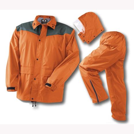 BrightDay風雨衣兩件式 - 超人氣日本款 率性橘M ╭加贈輕巧型雨鞋套