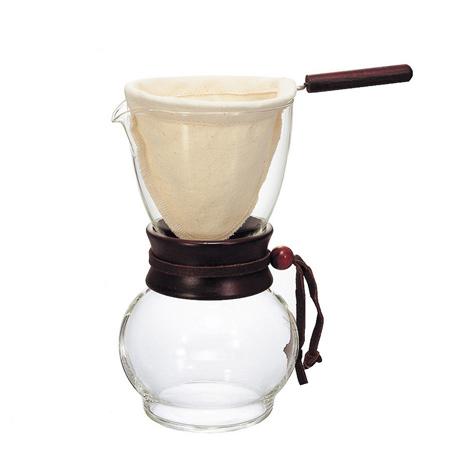 HARIO 玻璃手沖咖啡壺組-1~2人/DPW1(含法蘭絨濾布)