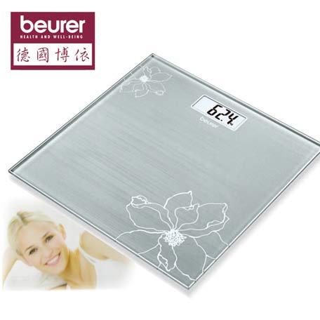 beurer德國博依 典雅花卉玻璃體重計GS10