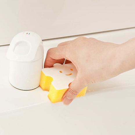 日本製造AISEN黏貼式(小塊拼圖)浴室洗臉台海綿刷 3包裝