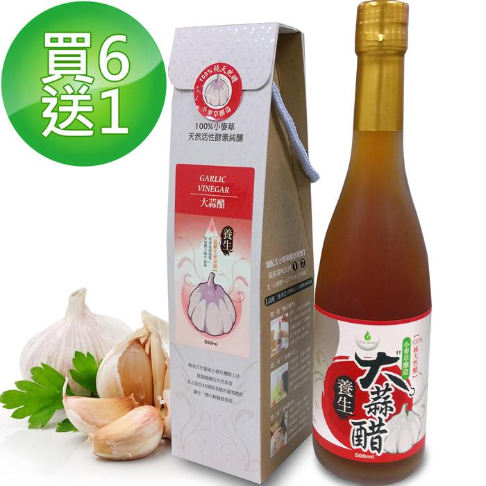【醋勁魅力】養生大蒜醋 550天陳釀 買6送1(500ml/瓶)