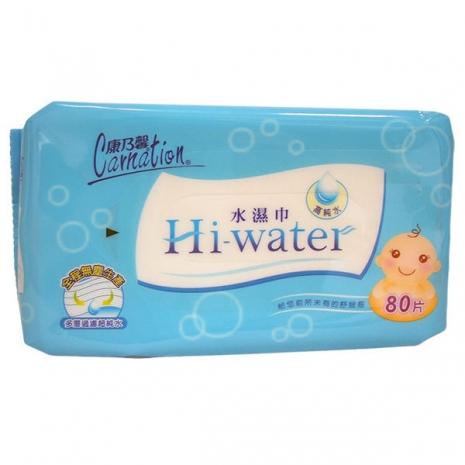 《康乃馨》Hi-water 水濕巾(80片 X12包) /箱 濕紙巾 活動限量